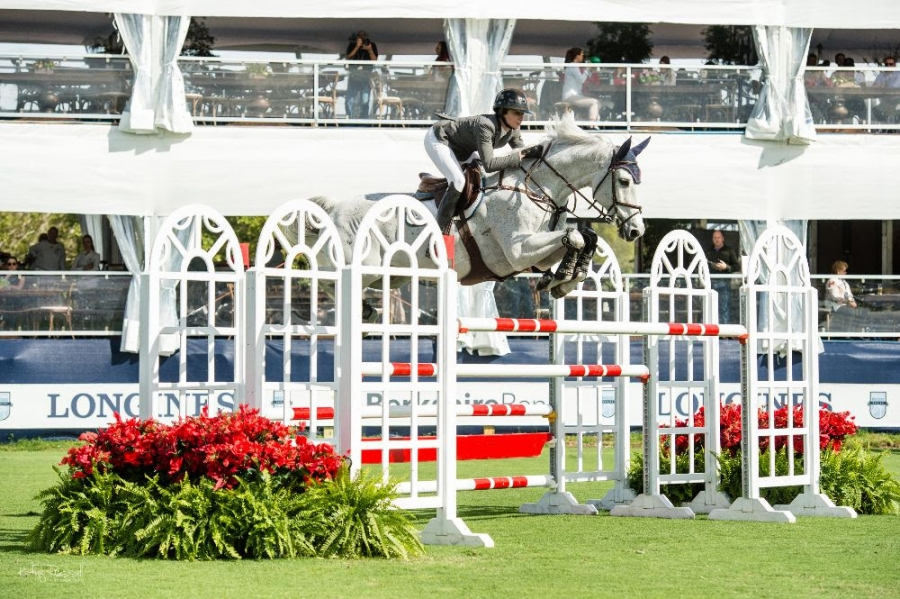 Catherine Tyree (USA) and Bokai won the $50,000 CSIO5* Suncast Grand Prix Qualifier to highlight Thursday's competition at the CSIO5* CP Palm Beach Masters Presented by Suncast.