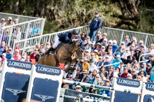 Daniel Coyle (IRL) riding Farrel winners of the Longines FEI Jumping World Cup NAL 2019/2020 - Ocala, Live Oak Plantation FL (USA)