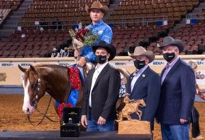 Andrea Fappani & All Bettss Are Off, NRHA MS Diamonds TX Level 4 Open Futurity Champions