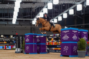 Marcus EHNING of Germany riding Pret A Tout (5) at - LONGINES FEI Jumping World Cup™ GRAND PRIX
