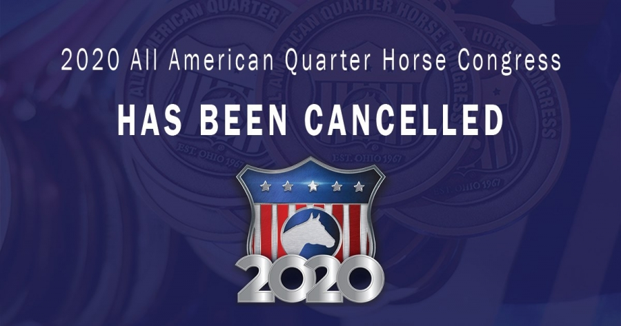 All American Quarter Horse Congress Cancelled