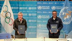 International Olymic Committee (IOC) and World Health Organization (WHO) Strengthen Ties to Advocate Healthy Lifestyles