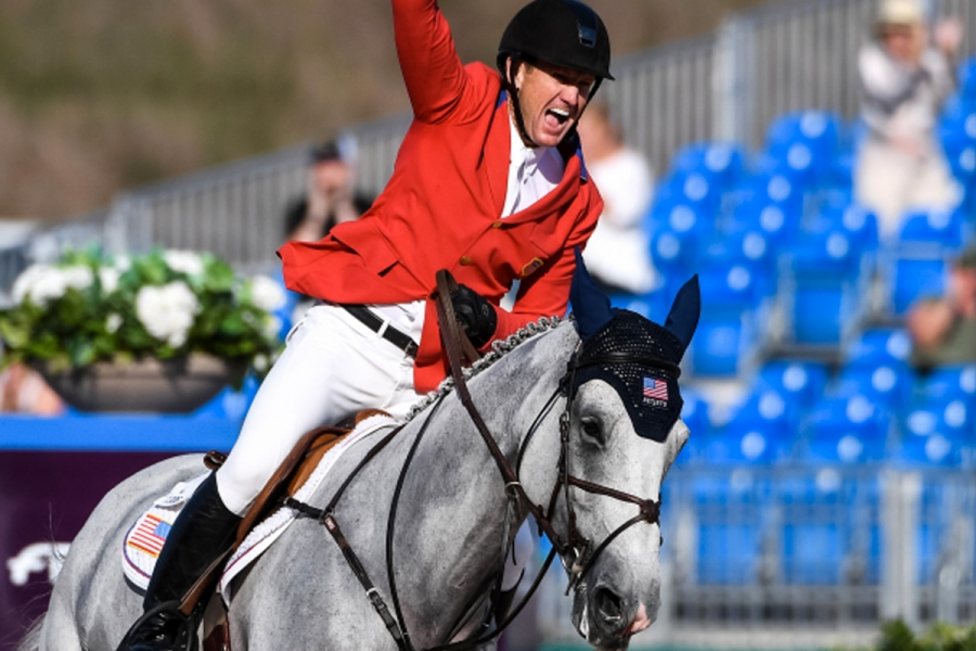 Tears of triumph as Usa wins Bank of America team jumping title on home turf in Tryon