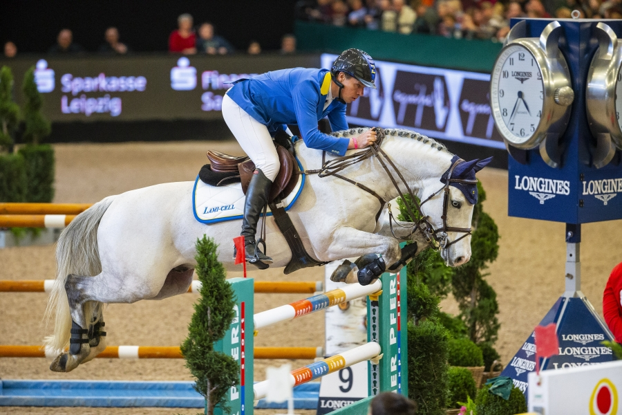 Christian Ahlmann and Caribis Z  win big at the eleventh leg of the Longines FEI Jumping World Cup™ 2018/2019 Western European League in Leipzig (GER) today.