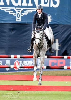 Darragh Kenny (IRL) and Billy Manjaro were best in the CSIO5* $8,000 Palm Beach Masters Warm-Up during Longines FEI Jumping Nations Cup™ Week CSIO5*/CSI2*.