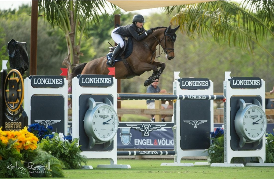 Sydney Shulman (ISR) and Villamoura recorded their first CSIO5* victory in the $36,600 Palm Beach Masters Classic during Longines FEI Jumping Nations Cup™ Week CSIO5*/CSI2* at Deeridge Farms