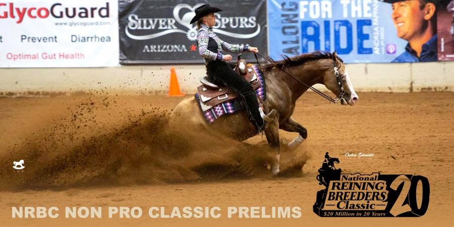 National Reining Breeders Classic: Roper Wins NRBC Non Pro Preliminary Round with Spooks Show Time