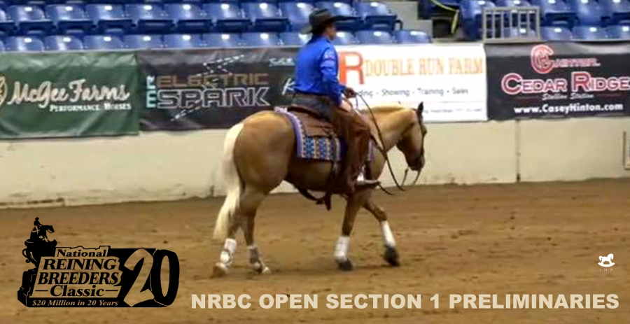 National Reining Breeders Classic (NRBC): Casey Deary & Gunnabeabrightstar Lead Open Section 1 Preliminaries