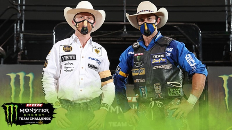 Two Teams Remain Undefeated While South Point and Lucas Oil Duel Into the Night on PBR's Monster Energy Team Challenge Day 8