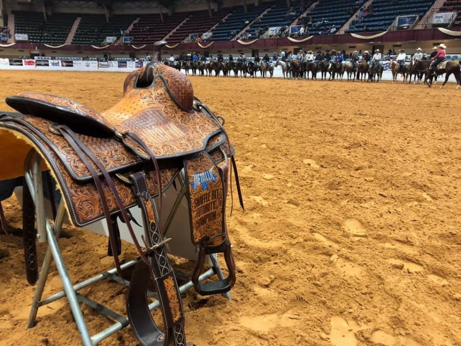 Here Comes The Boon and Lance Johnston earned $155,000 as champions of the NRCHA Open Futurity ®, presented by Metallic Cat, and CINCH Intermediate Open